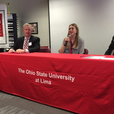 Amanda made the statement to a group of Advocates, that she is instilling in her students the love and spirit of Ohio State everyday, reinforcing with them, they CAN go to college and they can do so right here in Lima.