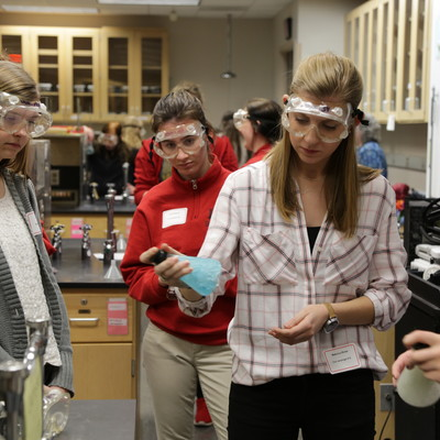 Ohio State Lima STEM Steps 100+ sophomore and junior girls from 16 regional high schools participated in faculty-led, hands-on workshops.