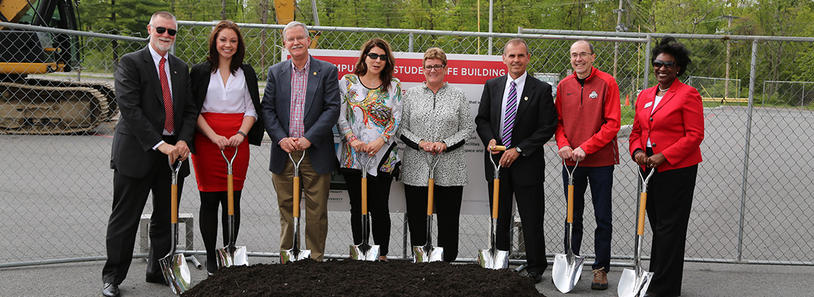 Ohio State Lima Perry Webb Student Life Building groundbreaking ceremony 2017